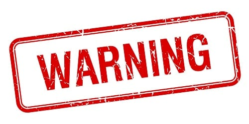 Short Sale Process warning